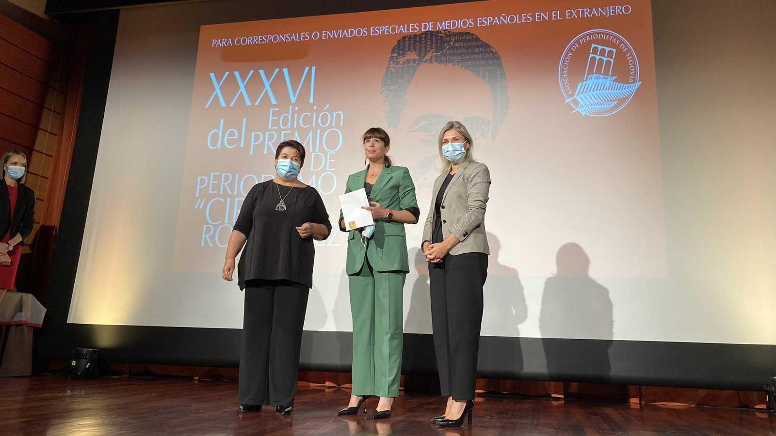 Mavi Doñate, en la entrega de premios