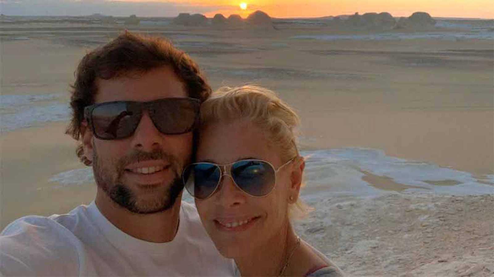 Belén Rueda y su novio, Javier Artime
