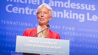 La directora gerente del Fondo Monetario Internacional, Christine Lagarde, durante una conferencia en Washington DC este 24 de junio.