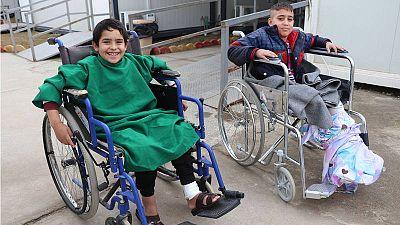 Saif y Salim, pacientes del hospital de MSF en Mosul