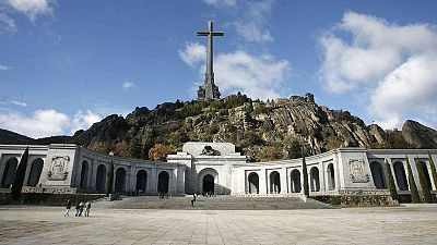 Vista de la plaza de entrada a la basílica de la Santa Cruz del Valle de los Caídos.