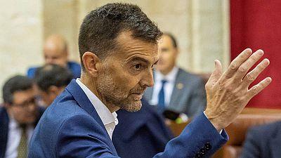 Antonio Maillo en el Parlamento de Andalucía en Sevilla