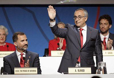 Blanco, en la sesión del COI que decidió la sede de los Juegos de 2020