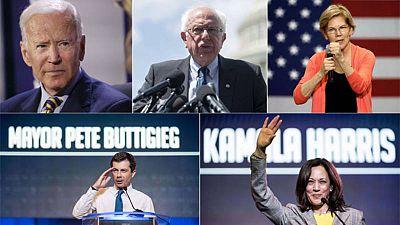 Joe Biden, Bernie Sanders, Elizabeth Warren, Pete Buttigieg y Kamala Harris, favoritos para liderar a los demócratas