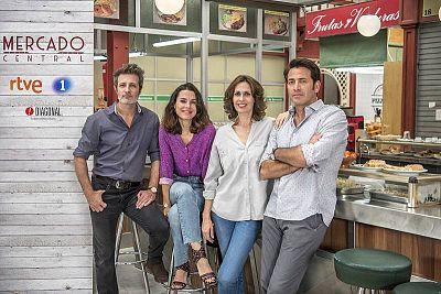Los cuatro protagonistas de la nueva serie diaria de La 1, 'Mercado Central'