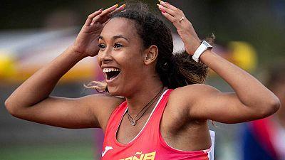 María Vicente celebra su victoria