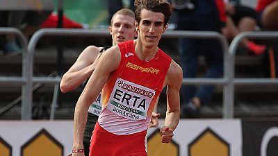 Bernat Erta, disputando la prueba en la que ha sido subcampeón