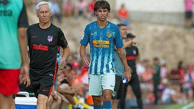 Joao Félix se retira lesionado del partido contra el Numancia.