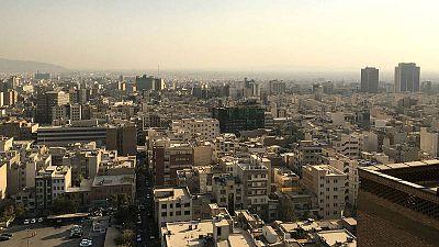 Rascacielos en Teherán, capital iraní, vistos desde la sede del Ministerio del Interior.