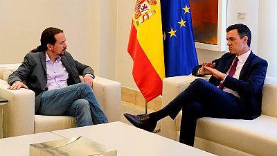 Reunión Sánchez e Iglesias