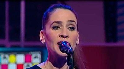 Inés Bayo durante una actuación en La 2.