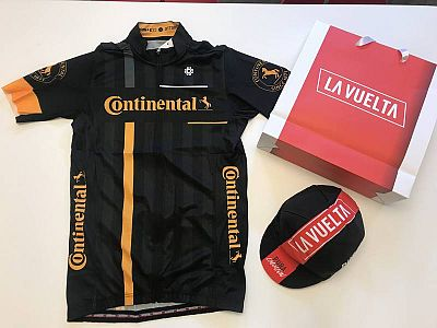 Maillot de la Vuelta para los ganadores de la elección al más combativo.