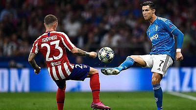 Trippier y Cristiano, en un lance del partido.