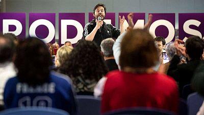 Imagen de archivo en la que aparece el diputado de Podemos en el Congreso Rafael Mayoral.
