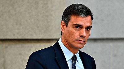 El líder socialista y presidente del Gobierno en funciones, Pedro Sánchez
