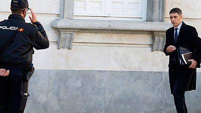 El jefe de los Mossos el 1-O, el mayor Josep Lluís Trapero, a su llegada al Supremo el pasado mes de marzo