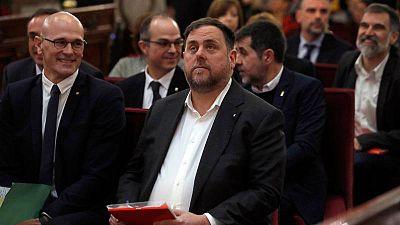 Oriol Junqueras durante la celebración del juicio en el Supremo