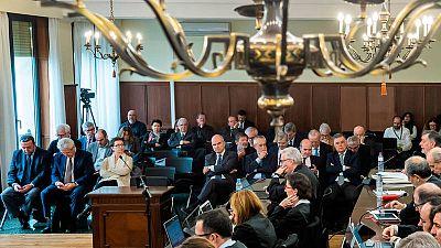 Imagen de la sala donde se celebró el juicio de los ERE el último día de la vista oral