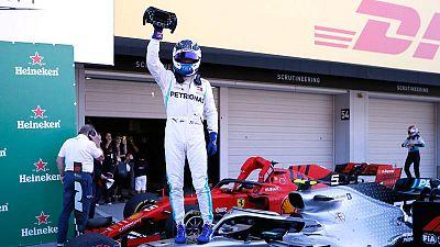 Valtteri Bottas celebra su victoriaen el Gran Premio de Japón de Fórmula Uno