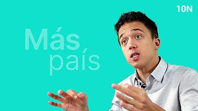 Íñigo Errejón es el candidato de Más País a las elecciones del 10 de noviembre.