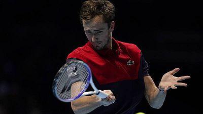 Daniil Medvedev, en las Finales ATP.