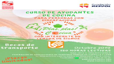 Personas sordas se forman en la Escuela Internacional de Cocina de Valladolid