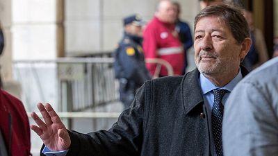 El ex director general de Empleo Francisco Javier Guerrero a su llegada a la Audiencia de Sevilla