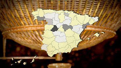 Consulta el mapa de las provincias menos afortunadas con el Gordo
