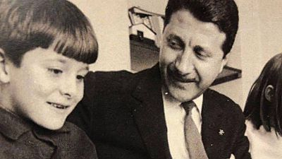 Jesús Álvarez Cervantes con su padre Jesús Álvarez