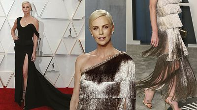 Charlize Theron y otras artistas que han cambiado de vestido para la 'after party'