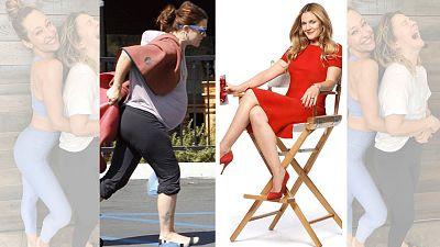 Drew Barrymore denuncia con dos fotos la presión que tienen las mujeres por estar perfectas tras el parto. En la primera aparece embarazada, sin arreglar. En la segunda, una foto tomada antes del embarazo, aparece mucho más delgada y arreglada