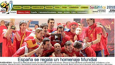 Así fue el Mundial 2010 en RTVE.es