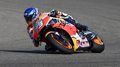 Álex Márquez, piloto de Repsol Honda, en el GP de Aragón.