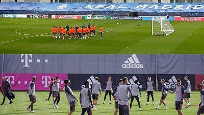 Los jugadores de Shakhtar Donetsk y Bayern de Múnich preparan sus partidos ante Real Madrid y Atlético.