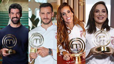 Los cuatro ganadores de todas las ediciones de MasterChef Celebrity
