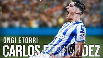 Imagen del nuevo futbolista de la Real Sociedad Carlos Fernández.