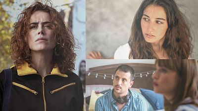 Amaia Aberasturi ('Akelarre') y David Pérez Sañudo ('Ane') charlan sobre el cine en euskera