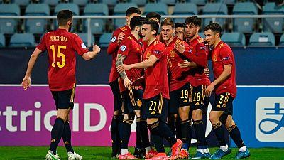 Imagen de archivo de los jugadores de la Selección española sub-21
