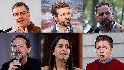Los líderes nacionales de los principales partidos que concurren al 4M en Madrid