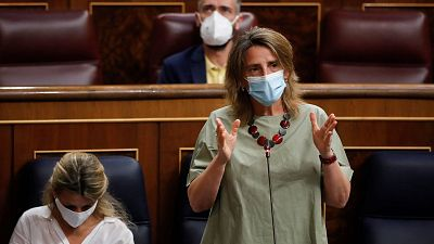 La ministra de Transición Ecológica, Teresa Ribera, en el Congreso de los Diputados