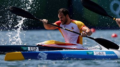El palista español Saúl Craviotto, en la serie de clasificación para las semifinales del K1 200 metros