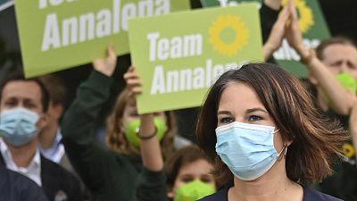 Annalena Baerbock, colíder de Los Verdes alemanes y candidata a la cancillería, en una imagen del 12 de septiembre. Foto: John MACDOUGALL / AFP