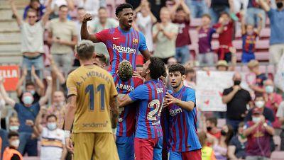 El Barça se desahoga con el Levante en el regreso estelar de Ansu Fati