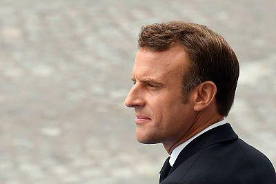 رئيس فرنسا، إيمانويل ماكرون. AFP ليونيل بونافينتور