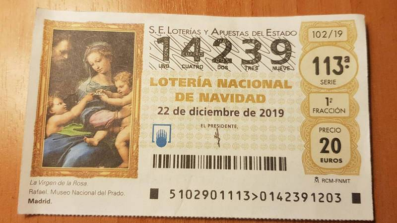 Un décimo comprado en Doña Manolita