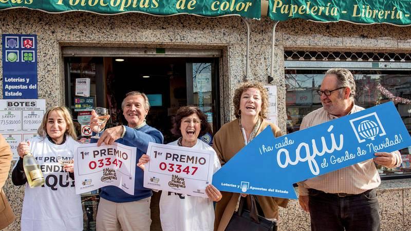 Celebración del Gordo de 2018 en la ciudad de Cáceres