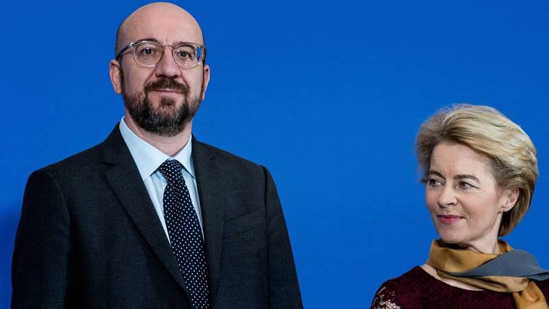 Charles Michel y Ursula von der Leyen, en Bruselas