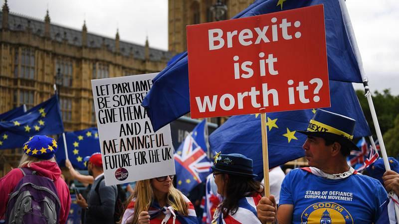 Activistas proeuropeos se concentran en el Parlamento británico en junio