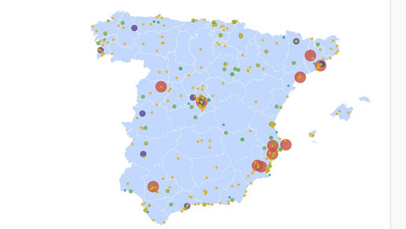 El mapa de la suerte: consulta los municipios en los que ha tocado