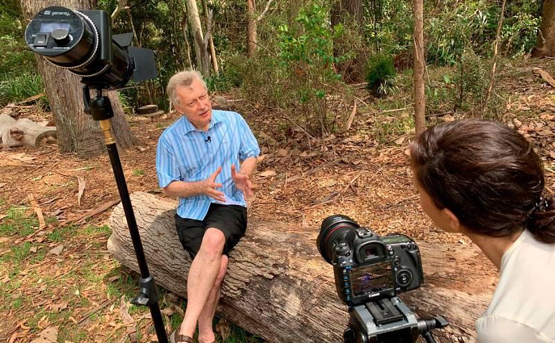 Christopher Dickman, profesor de Ecología en la Universidad de Sidney durante la entrevista.
